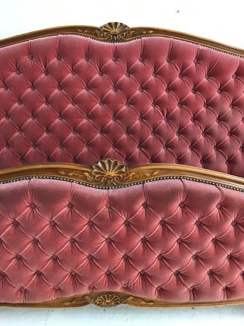 SOLD - Very Rare Vintage French Bed - 200cm wide -  ca155
